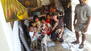 Janice, BAWA founder, with children